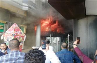 """السيطرة على حريق كافتيريا على كورنيش """"كليوباترا"""" في الإسكندرية  صور"""