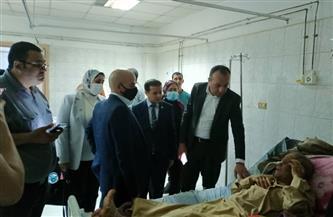لجنة من «نقل النواب» تزور مصابي حادث قطار طوخ وتطالب بمحاسبة المقصرين | صور