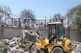 رفع 25 طن مخلفات وأتربة من مناطق متفرقة بوسط الإسكندرية