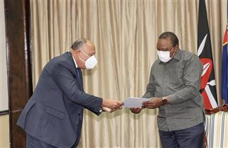 رسالة من الرئيس السيسي لنظيره الكيني حول تطورات ملف سد النهضة | صور