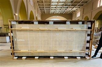 المتحف الكبير يستقبل المقصورة الثالثة للملك الذهبي توت عنخ آمون | صور