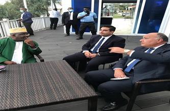 سامح شكري يعقد لقاء وديا مع وزير خارجية جزر القمر   صور