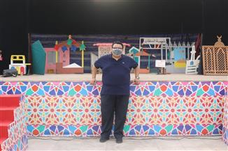 """خالد جلال يتفقد تجهيزات مسرح ساحة الهناجر لاستقبال """"هل هلالك""""   صور"""
