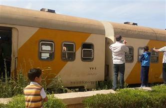 انفصال 6 عربات من قطار عند قرية منقباد في أسيوط