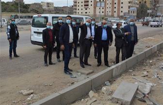محافظ الجيزة يتفقد أعمال تطوير شارعي البحر الأعظم والنيل السياحي |صور