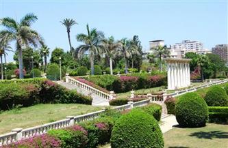 حملة لتجميل الحدائق العامة بالإسكندرية استعدادًا لعيد الفطر