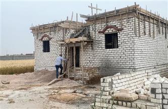 إزالة عقار مخالف على أرض زراعية غرب الإسكندرية | صور