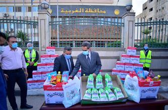 قافلة أبواب الخير تصل الغربية وتوفير 80 طنا من المواد الغذائية والدواجن لـ6 آلاف أسرة |صور