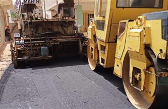 رصف شوارع في المطرية ضمن الخطة الاستثمارية للحي