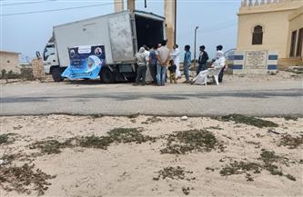 وصول قوافل المواد الغذائية المخفضة إلى قرى علوش وسيدى حنيش والزيات | صور
