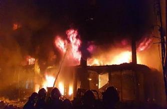 11 مصابا نتيجة حريق بإحدى أسواق العاصمة الليبية