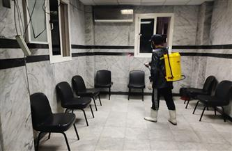 استمرار أعمال التعقيم والتطهير بالمستشفيات والمؤسسات الحكومية في بورسعيد  صور