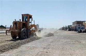 رفع كفاءة وتطوير المدخل الشمالي لمدينة رأس غارب