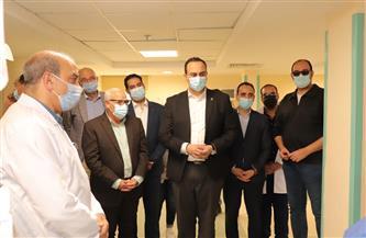 الانتهاء من تنفيذ 80% من أعمال الإنشاء لمبنى الجناح البحري بمستشفى السلام بورسعيد | صور