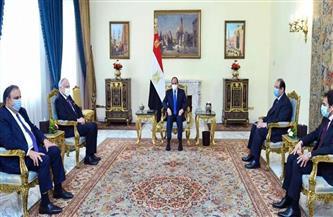 الرئيس السيسي يستقبل رئيس الكونجرس اليهودي العالمي بحضور رئيس المخابرات العامة