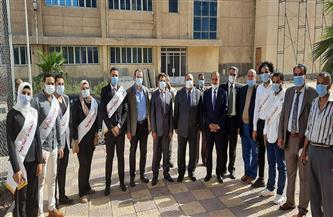رئيس جامعة حلوان يتفقد كلية التكنولوجيا والتعليم | صور