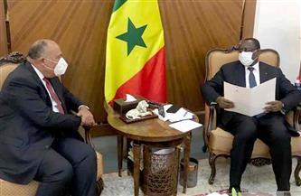 وزير الخارجية يسلم رئيس السنغال رسالة من الرئيس السيسى