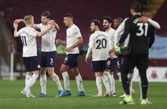 مانشستر سيتي يقترب من لقب الدوري الممتاز بالفوز 2-1 على أستون فيلا