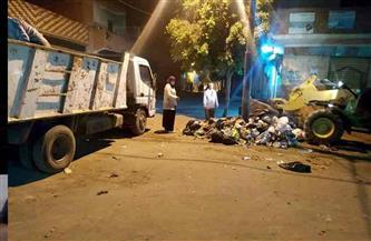 شن حملة نظافة ليلية بمدينة منوف بالمنوفية | صور