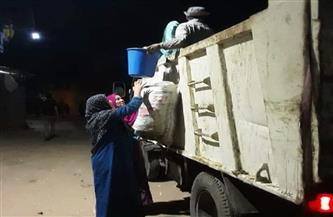 شن حملة نظافة ليلية بقرى مركز منوف بالمنوفية| صور