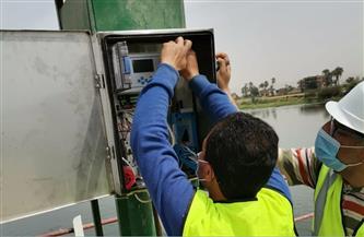 تركيب أجهزة قياس ومراقبة منسوب مياه النيل بمحطات الشرب بسوهاج | صور