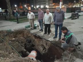 حي ثان الزقازيق يعلن الانتهاء من إصلاح هبوط أرضي ومأسورة مياه مكسورة | صور