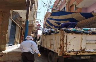 رفع 220 طن قمامة ومخلفات من شوارع وطرق مدينة جرجا