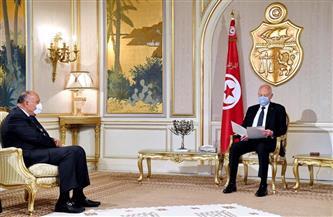 سامح شكري يسلم رسالة الرئيس السيسي إلى نظيره التونسي| صور