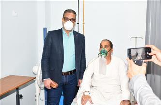 محافظ الفيوم يزور مصابي كورونا بمستشفيي الصدر والتأمين الصحي |صور