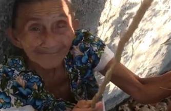 امرأة مكسيكية عمرها 88 عاما تتسلق الأشجار لجمع وقطف الفاكهة | فيديو