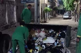 رفع ٢٥ طن قمامة بمدينة الباجور بالمنوفية   صور