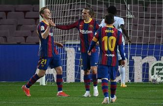ميسي وجريزمان وديمبلي في هجوم برشلونة أمام ليفانتي