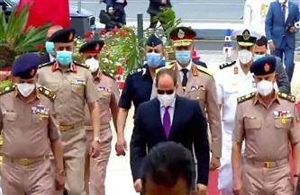 الرئيس السيسي يصل مسجد المشير طنطاوي لأداء صلاة الجمعة