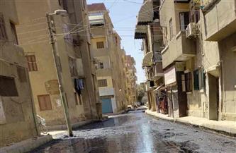 متابعة أعمال رصف الشوارع بمدينة شبين الكوم بمحافظة المنوفية| صور