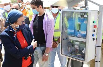 وزيرة البيئة تتفقد مشروع نقل ومعالجة سائل الرشح بمدفن الوفاء والأمل