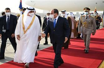 الرئيس السيسي يستقبل الشيخ محمد بن زايد بمطار القاهرة | صور