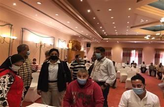 نائبة وزير السياحة والآثار تتابع سير عمليات تطعيم العاملين بالقطاع السياحي بالأمصال المضادة لفيروس كورونا