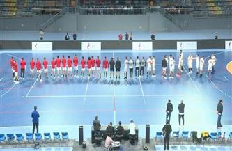 الشوط الأول: الأهلي يتقدم على الزمالك (15-11) في نهائي كأس مصر لكرة اليد