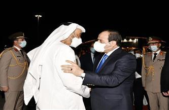 الرئيس السيسي يودع محمد بن زايد آل نهيان في ختام زيارته لمصر| صور