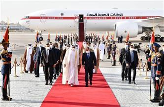 المتحدث الرئاسي ينشر فيديو لزيارة بن زايد لمصر اليوم