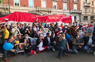 الجالية المصرية تطالب البرلمان الأوروبى والحكومة الإيطالية بدعم موقف مصر والسودان بشأن سد النهضة | صور