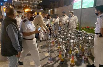 غلق وتشميع 7 مقاهٍ ومصادرة 33 شيشة فى قطور بالغربية