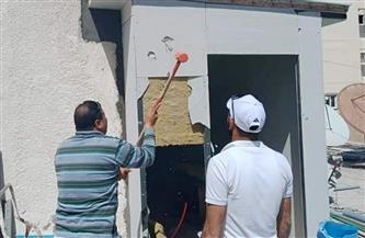 إيقاف أعمال البناء المخالف بعقار شرق الإسكندرية | صور