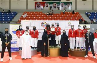 سعيد بن مكتوم يتوج الفائزين في بطولة البادل تنس بدورة ند الشبا الرياضية