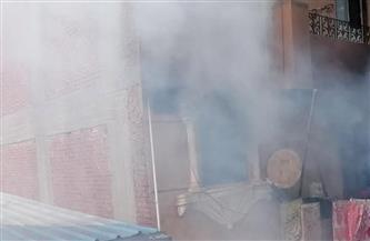 حريق يلتهم محتويات شقة في كفر الزيات بالغربية | صور
