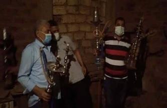تحرير 70 مخالفة لعدم ارتداء الكمامة ومصادرة 60 شيشة في مركز ساقلتة