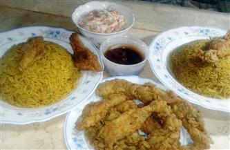 أرز الدجاج بالريزو مع الكولسلو