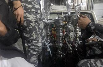 الأجهزة التنفيذية بالشرقية تصادر 26 شيشة و10 تكاتك مخالفة | صور