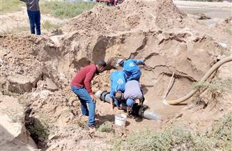 مياه القناة: إصلاح عدد من الكسر المفاجئ للمواسير خلال الـ 24 ساعة الماضية | صور
