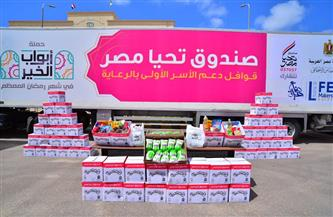 «تحيا مصر» يوفر 132 طن مواد غذائية لـ10 آلاف أسرة بالإسكندرية | صور